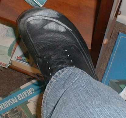 [photo of my shoes]